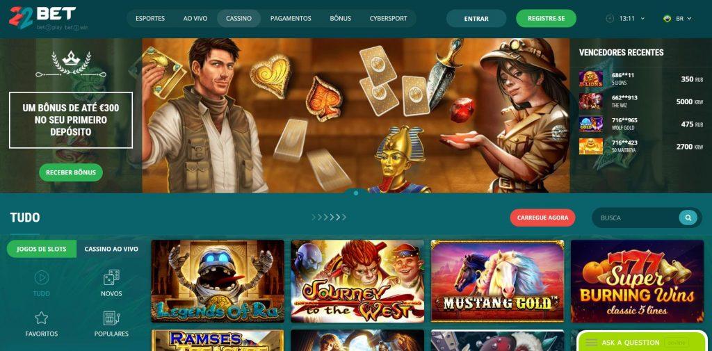 jogar de casino 22bet
